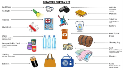Disaster Supply Kit - emergency supply items | Mackoul Pediatrics